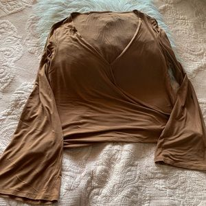 American Eagle soft and sexy brown long sleeve top